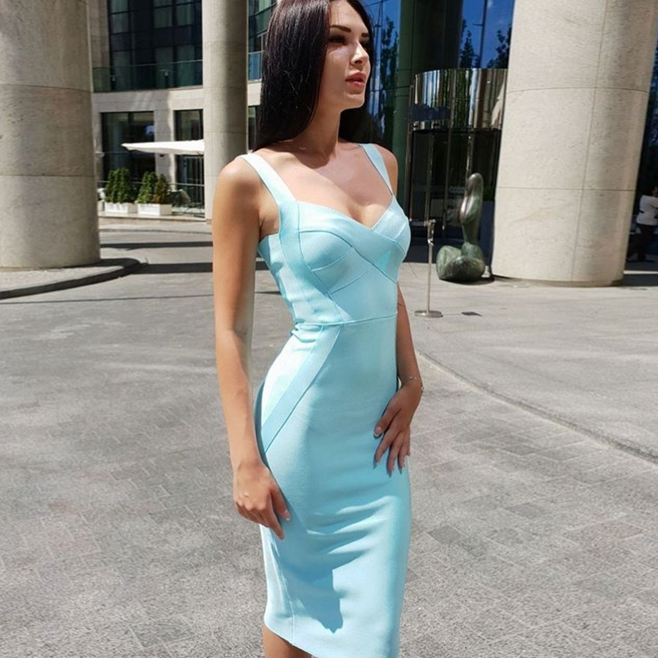 2019-Women-s-Bandage-Dr-Knee-Sexy-Spaghetti-Strap-Bodycon-Club-Party-Dr-Strapl-Summer-Sky