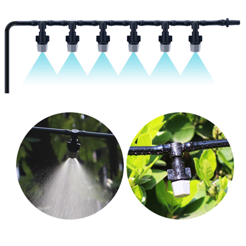 Automatic Mist Spray Nozzle Sprinkler Garden Agriculture Irrigation Cool System