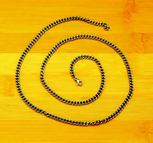 Pure Titanium Chain Necklace 2.5*650mm / 3.5*650mm / 5.5mm*700mm / 8mm* 550mm Harmless to Skin Allergyfree Rustproof Light