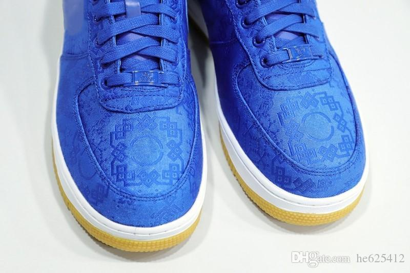 Fouth One Blue Silk Youth Big Kids Children Junior Boys Mens Running Shoes University Blue White Gum Women Sneakers Trainers