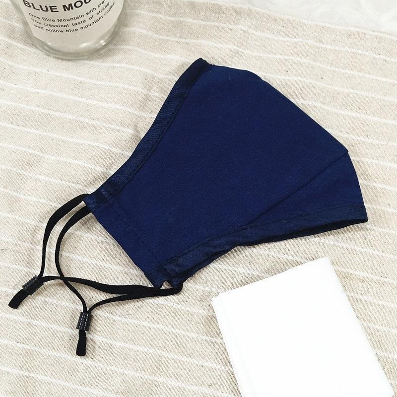 Solid Color Cotton Mask PM2.5 Dust Designer Mask Breathable and Washable Pluggable Filter Anti-fog Mask HH9-3124