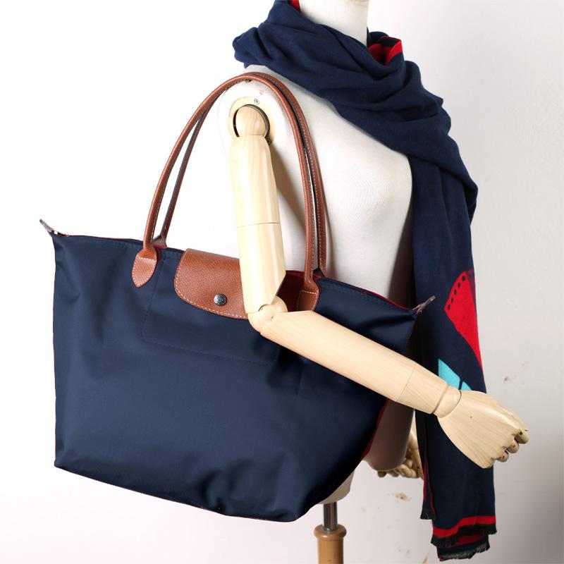 Woman Shopping Bag High Quality Leather purse tote new fashion shoulder bag Handbags Casual Folding Nylon Waterproof Tote Beach Bags