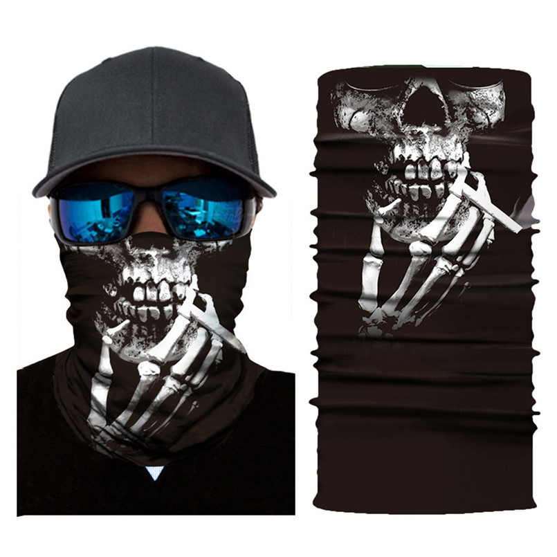Skull Face Mask Scarf Halloween Party Face Mask Bike Face Mask Ghost Balaclava Masks Cycling Motorcycle Head Scarf Neck #F30ST02 (7)