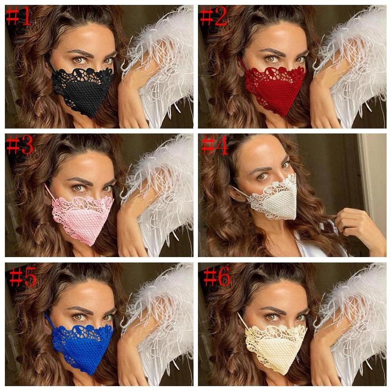 Fashion Protective Mask windproof Dust proof Breathable Cotton Cloth Mask Washable Reusable Lace Face Mask Designer Masks T9I00485