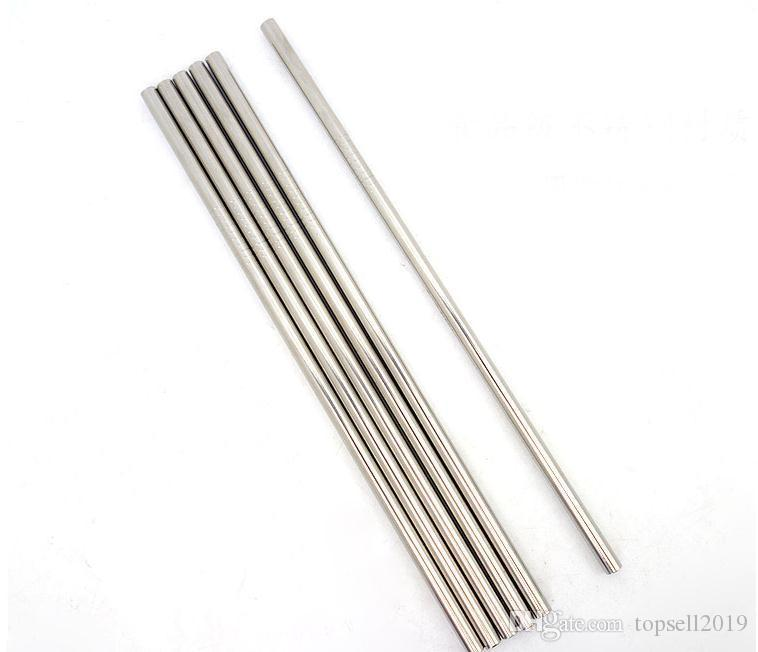 Durable Stainless Steel Straight Drinking Straw Straws Metal Bar Family kitchen SN2475