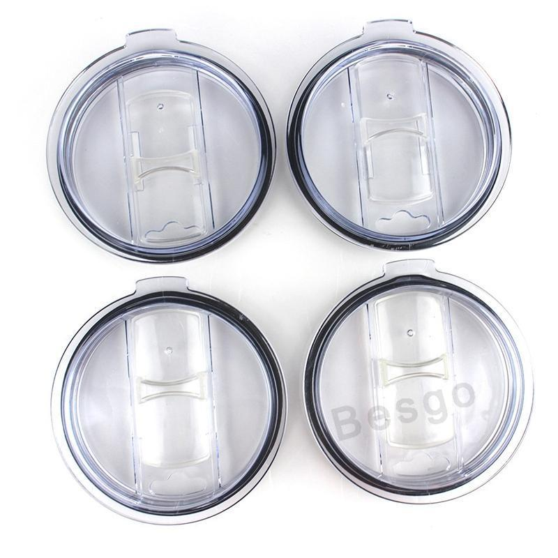 20oz 30oz Clear Mug Lid Cups Lid Transparent Mugs Lids Cover Cars Beer Mug Splash Spill Proof Covers Waterproof Sealing Cover DBC BH2726