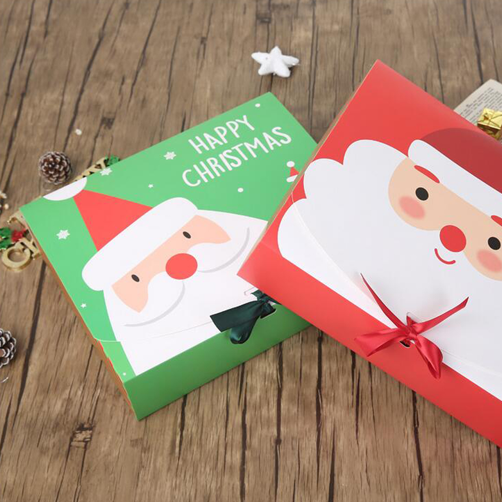 Christmas Eve Big Gift Box Santa Claus Fairy Design Kraft Papercard Present Party Favor Activity Box Red Green New Year Package Boxes DHL