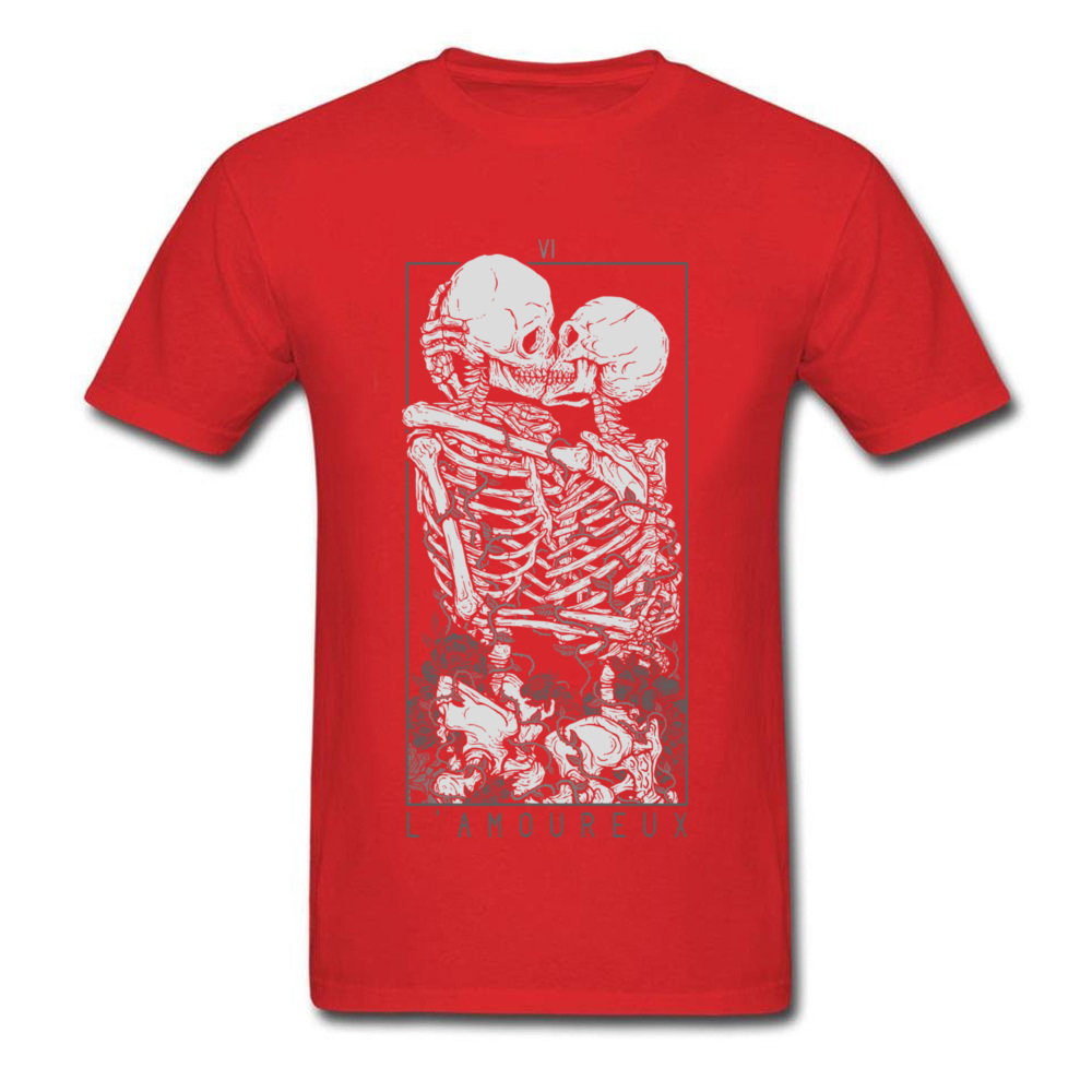 The Lovers Summer Autumn Pure Cotton Crew Neck Tees Short Sleeve Summer Clothing Shirt New Design Design T Shirt The Lovers red