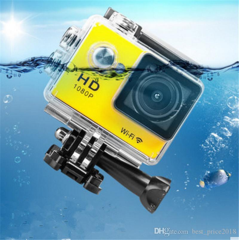 Free DHL W9 2 inch Screen Wifi Version Action Camera 30M Waterproof 1080P FHD Extreme Sports Mini DV Diving Video Camera