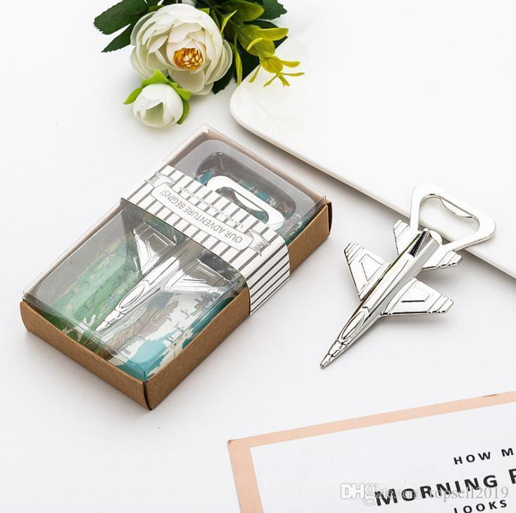 Aluminum Alloy Airplane Bottle Opener Antique Plane Aircraft Shape Beer Openers Wedding Party Home Kitchen Bar Tools SN2301