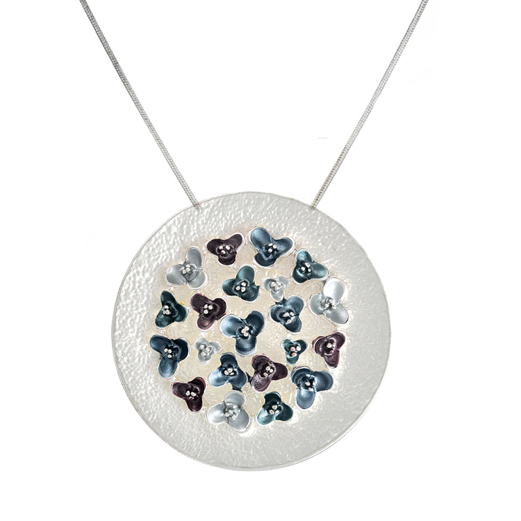 Cring CoCo Big Geometry Pendant Charm Woman Silver Chain Necklace Enamel Flower Chokers Necklaces for Women Accessories Girls