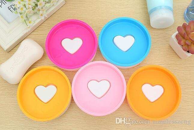 DHL Free Ship,Cute Smile bathroom shower storage dish soap box soap holder case container soapbox