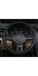 Steering Wheel Cover - Black (Red Line)