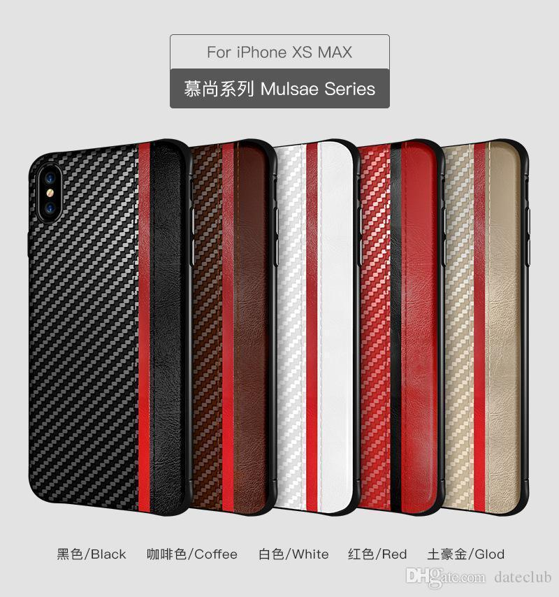 Rugged Armor Case For iPhone 7 8 Plus X XR XS MAX Samsung Galaxy S10 S10e Anti Shock Carbon Fiber Design Phone Cases