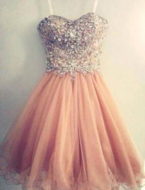2016 Popular Homecoming Dresses Spaghetti Strap Tulle Beaded Short Coral Prom Dress Short Junior Senior Homecoming Dress