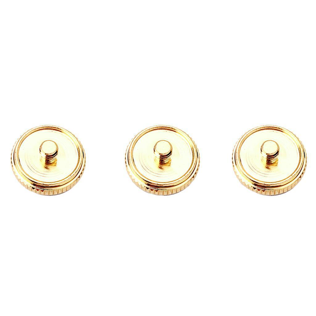 Set of 3 Pieces Copper Finger Buttons for Trumpet Repair Parts Brass Instruments