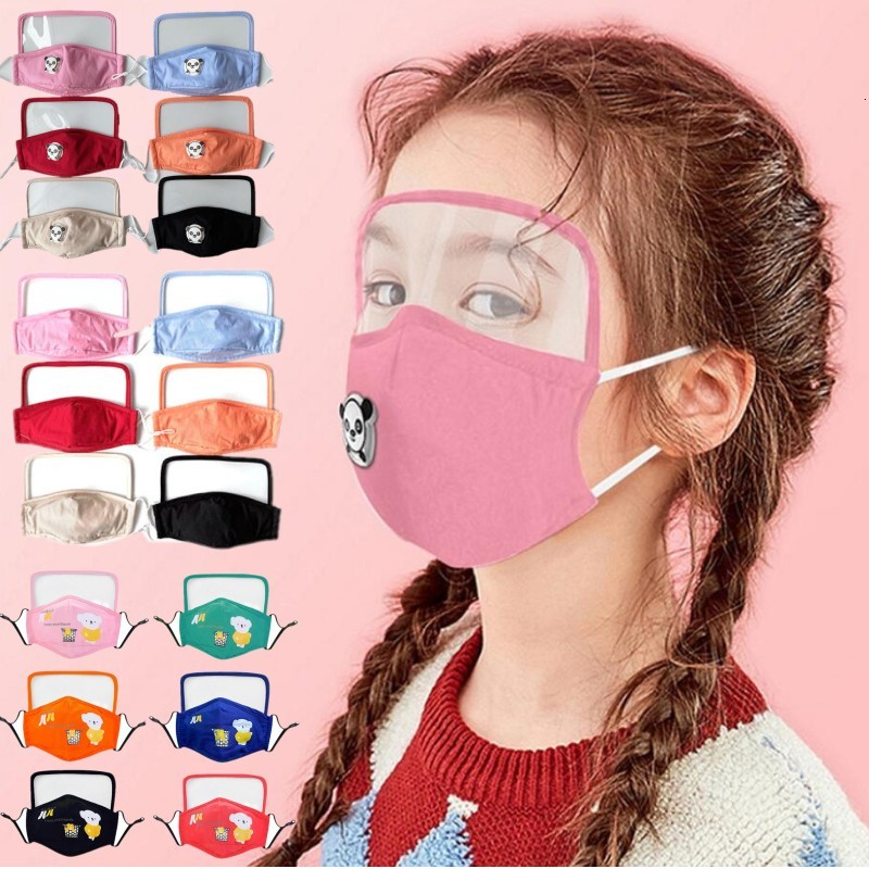children cotton Face Mask Anti-Dust Earloop with filter Adjustable Reusable Mouth Masks Soft Breathable Anti Dust Protective Masks