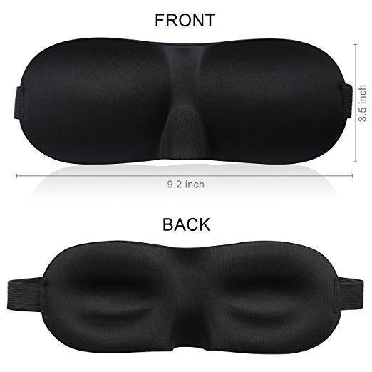 Comfortable Luxury Fashion Memory Foam Sleep Covers 3D Eye Mask With Ear Plugs