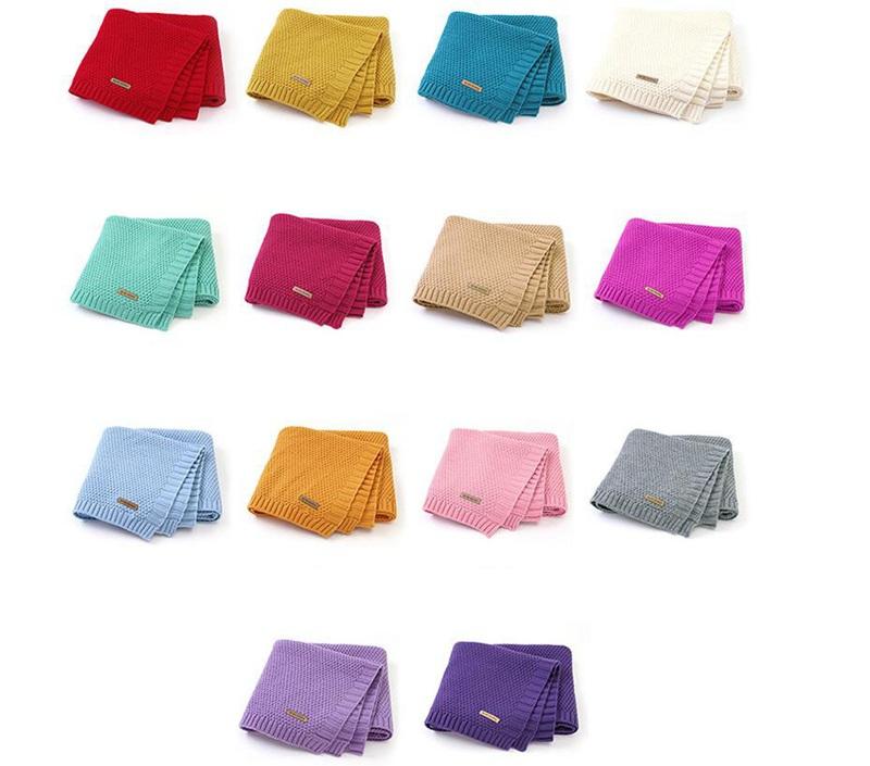 MOTOHOOD Kids Blanket Casual Baby Blankets Knitted Newborn Swaddle Wrap Soft Toddler Sofa Crib Quilt Baby Stroller Blanket (6)