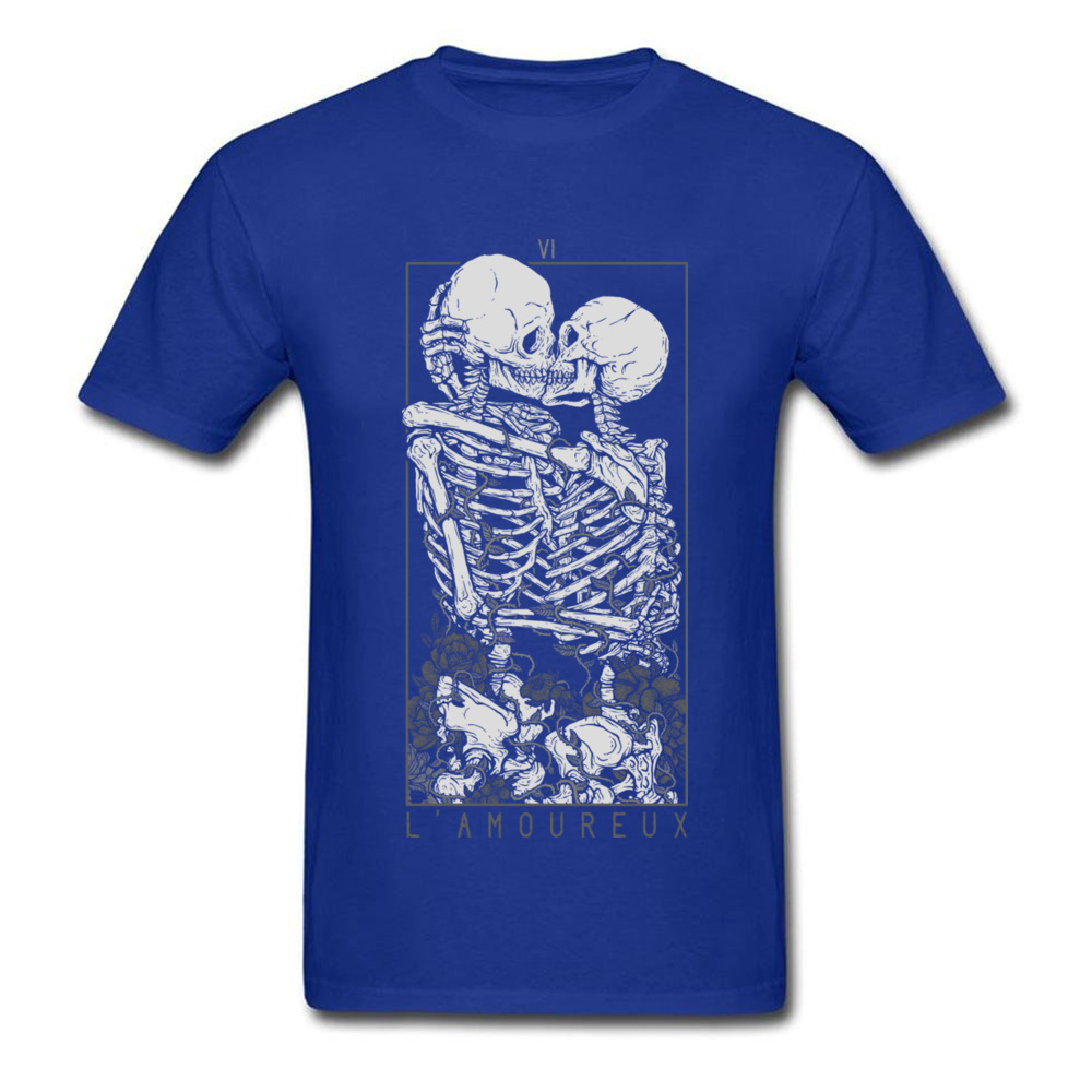 The Lovers Summer Autumn Pure Cotton Crew Neck Tees Short Sleeve Summer Clothing Shirt New Design Design T Shirt The Lovers blue