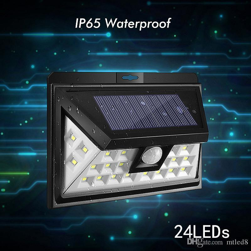 12/16/20/24/54 LEDs LED Solar Power PIR Motion Sensor Wall Light Outdoor Waterproof Energy Saving Street Garden Security Lamp