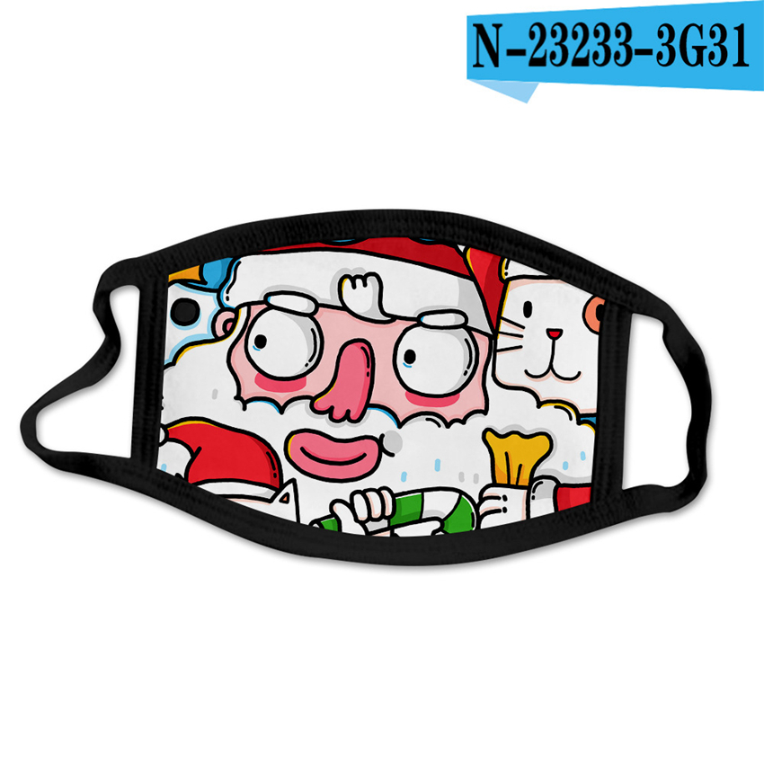 Christmas Face Masks Adults Kids Halloween Party Masks Anti Dust Reusable Washable Mouth Cover Xmas Face Masks CYZ2669