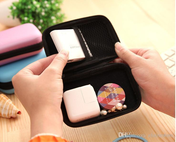 Canvas Zipper Bag Earphone Cable Mini Box SD Card Portable Coin Purse Headphone Bag Carrying Pouch Pocket Case Cover Storage Free DHL
