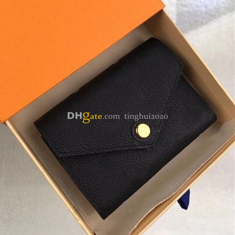 New Designer Women Fashion/Casual ZOE Coin Purse M62935 High Quality Embossed Leather Buckle Wallet Box Packaging Inventory Free Shipping