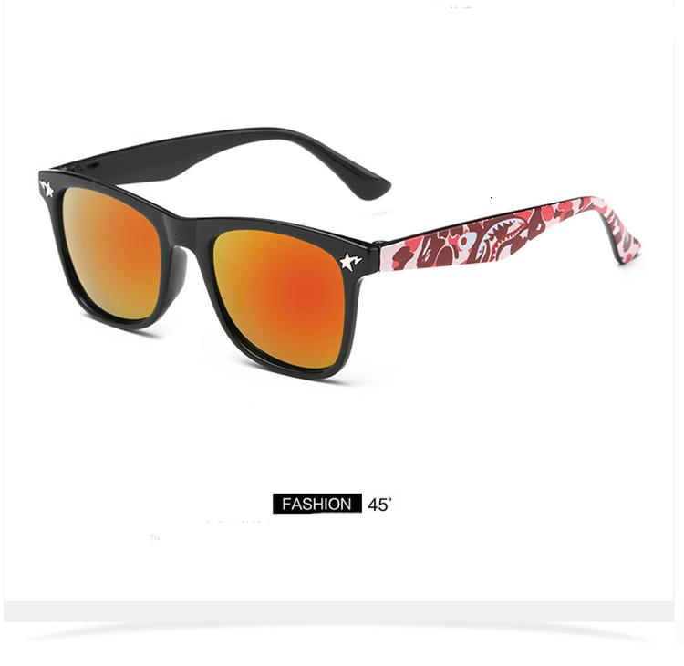 MOSILIN Brand Kids Camouflage Sunglasses Baby Military Goggles Glasses Girls Boys Mirror Coating Eyewear Flat Shark Oculos Infantil (3)