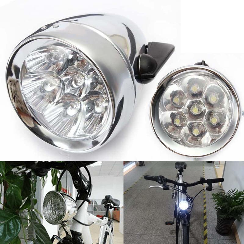 Wasserfest 7 LED Vintage Fahrrad Licht Scheinwerfer Vorne Retro Kopf Nebel Lampe