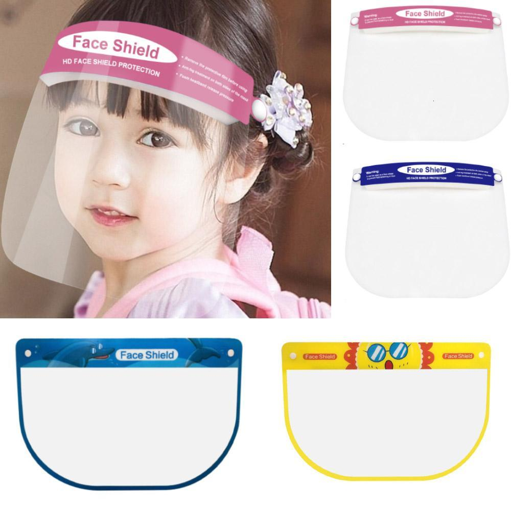 Fashion Protective Face Shield Clear Mask For Children Anti-Fog Full Face Transparent Visor Protection Splashing Safety Child HH9-3201