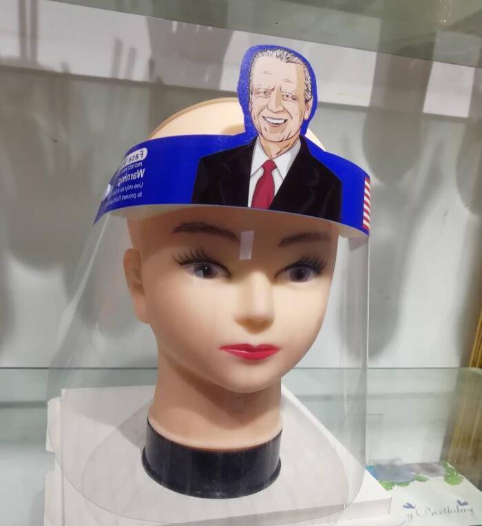 DHL Shipping Trump Face Shields Biden Reusable Faceshield Transparent Masks Anti-Fog Layer Protect Eyes from Splash Full Face Cover X433FZ