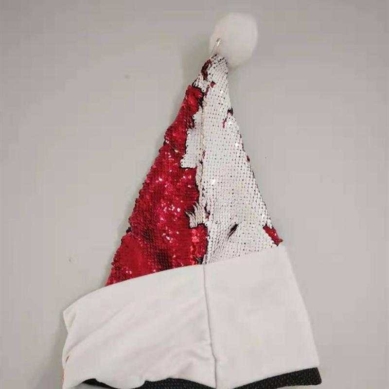 Christmas sequin hat decoration sublimation crazy Christmas hat