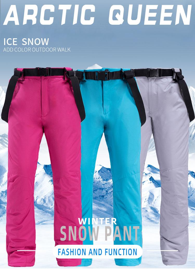 Compre Esquiar Pantalones Para Los Hombres Y Las Mujeres Al Aire Libre A Prueba De Viento Caliente Par De Pantalones Impermeables De Invierno De Esqui De Invierno Pantalones De Snowboard De La