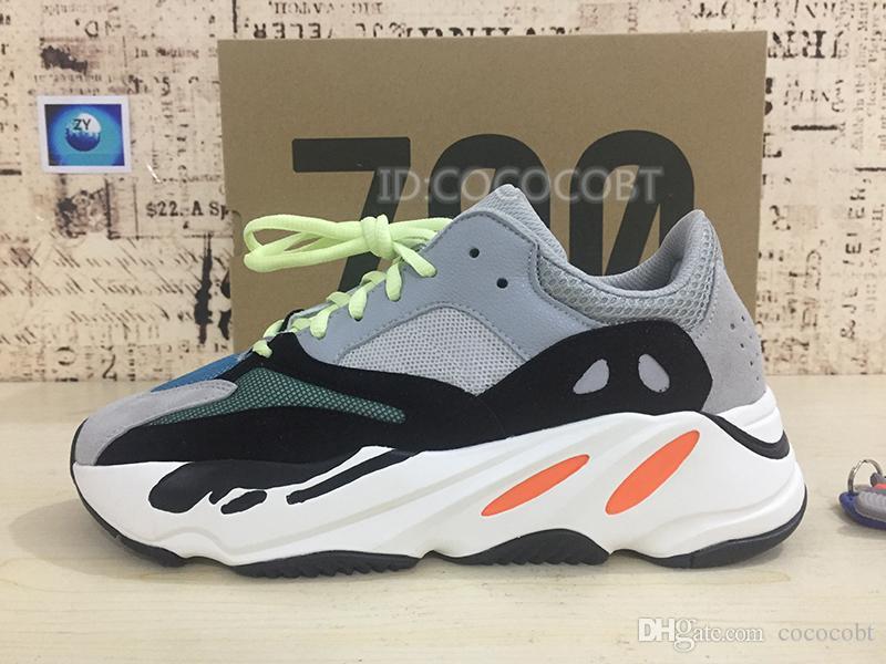 2019 Static 700 Wave Runner Mauve EE9614 Inertia Kanye West 700 v2 Geode Men Women Running Shoes Designer Sport Seankers With Box