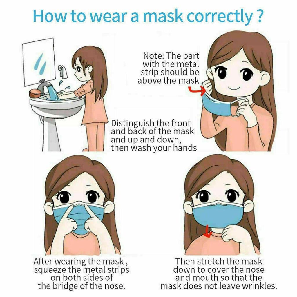 adults mascarillas desechable disposable mouth mask fashion Pattern 3Ply Ear Loop cotton fabric mascaras 3Ply Ear Loop Non-woven mondmasker