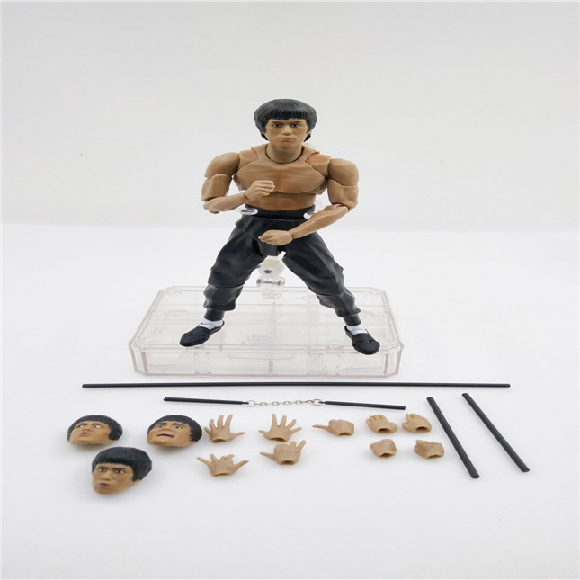 SHFiguarts King of Kung Fu Bruce Lee Variant With Nunchaku Action Figure Collectible Model Toy 15cm (6)