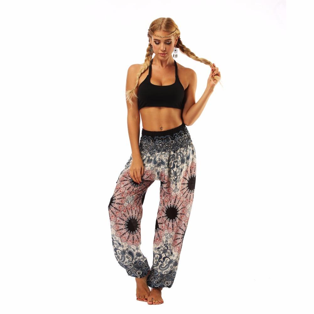 TL010- Watercolor floral wide leg loose yoga pants leggings (3)