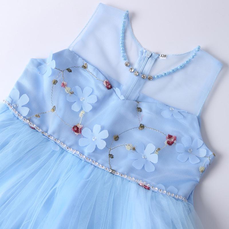Elegant Pearl Applique Girls Dresses Teenage Princess Birthday Wedding Party Ball Gown Fashion Children Dress For Kids Clothes (9)