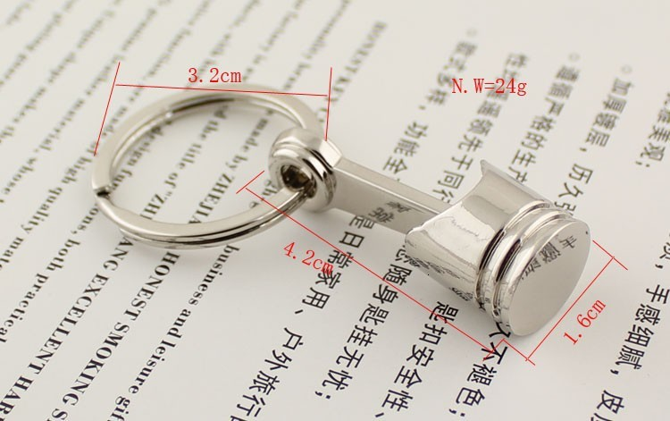 Piston Keychain Creative Accessories Auto Part Model Automotive Keyring Key Chain Ring Key Rings Keyfob High Quality