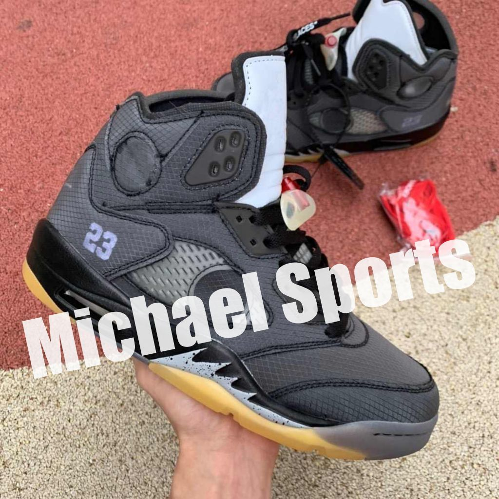 5s stitching hole on tongue 5 black grey reflection Basketball Shoes Top Factory Version mens trainers New 2020 Sneakers with Box