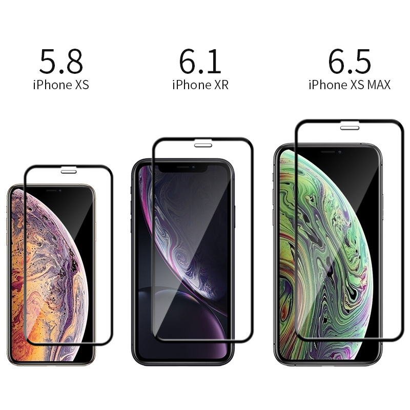Tempered-Glass-For-iPhone-XS-Max-XR-X-Screen-Protector