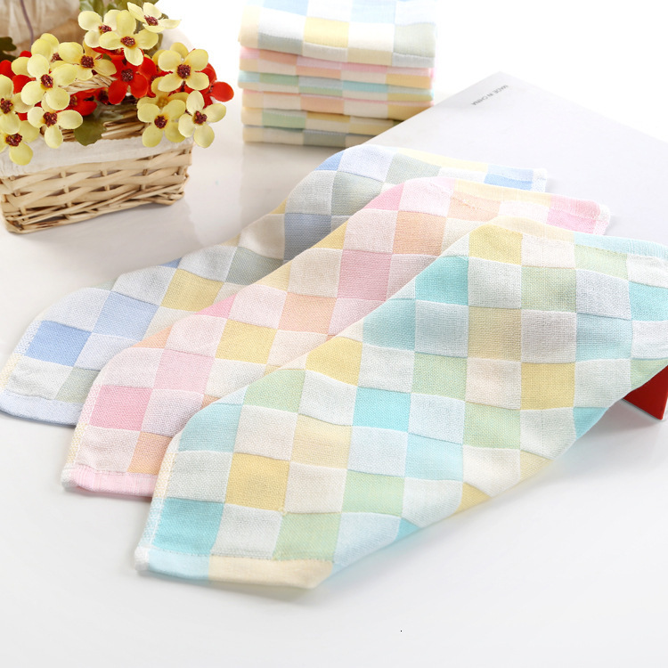 Baby Towels Muslin Washcloths Natural Organic Cotton Baby Wipes Hand Kids Towel Muslin Washcloth Towel for Sensitive Skin Z0462