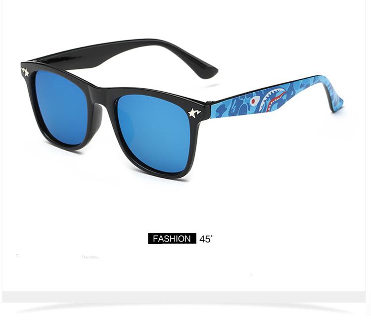 MOSILIN Brand Kids Camouflage Sunglasses Baby Military Goggles Glasses Girls Boys Mirror Coating Eyewear Flat Shark Oculos Infantil (19)