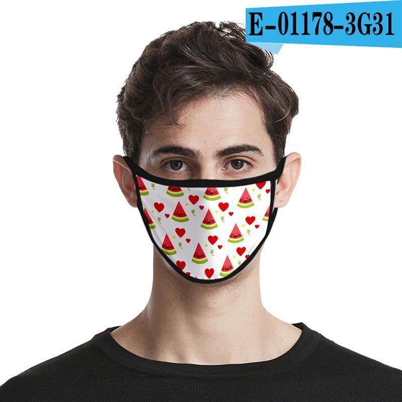 Sport Mask Door Face Riding Cotton Face Mask Designer Fashion Masks 3d Printing Colorful Fruit Masks Out Cotton Reusable Designer XLICV