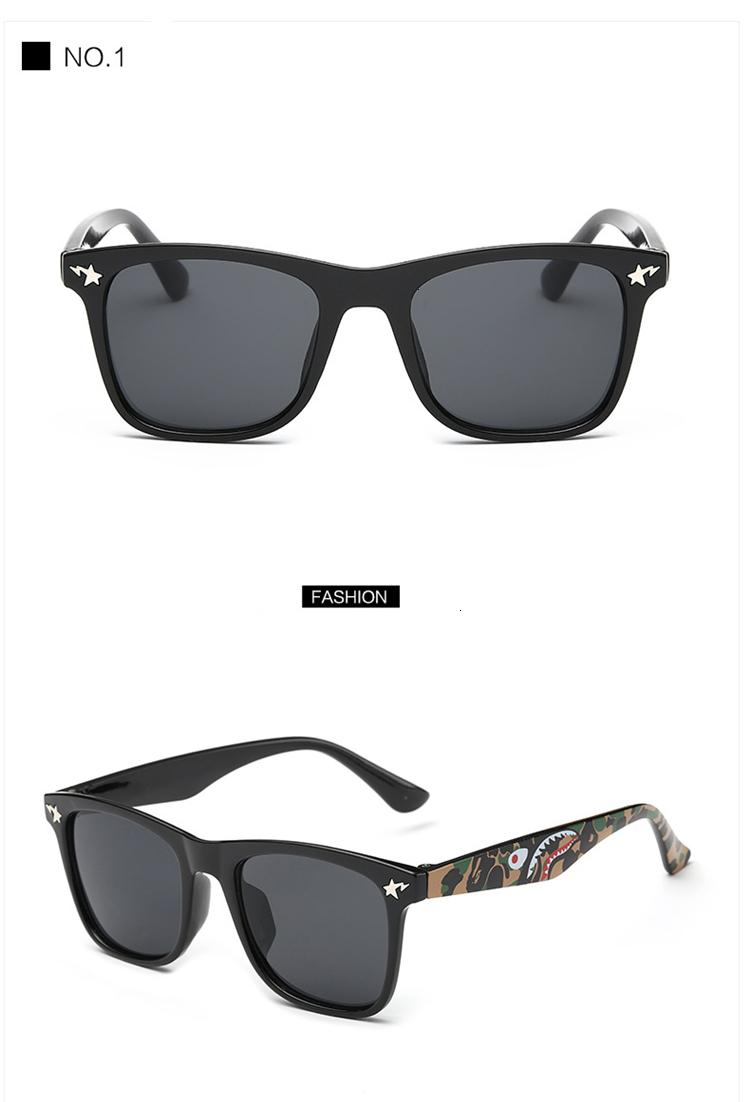 MOSILIN Brand Kids Camouflage Sunglasses Baby Military Goggles Glasses Girls Boys Mirror Coating Eyewear Flat Shark Oculos Infantil (21)