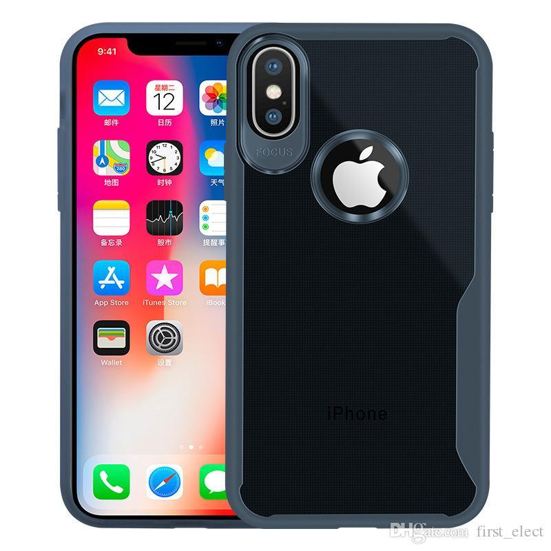 New Transparent Shockproof Clear Soft TPU Silicone phone case slim cover for for iphone XR XS MAX X 6S 7 8 plus Samsung S8 S9 Plus note 9