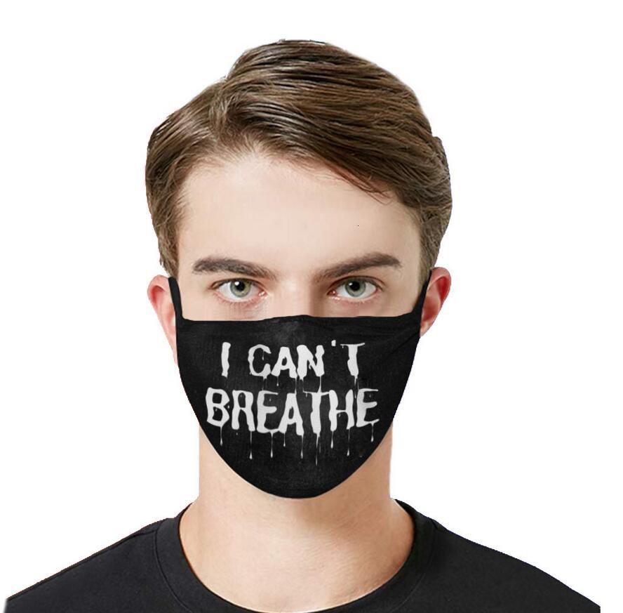 I Can't Breathe Face Mask Printing Tide Dust-proof Washable Breathable Disposable Mask Choose FedEx