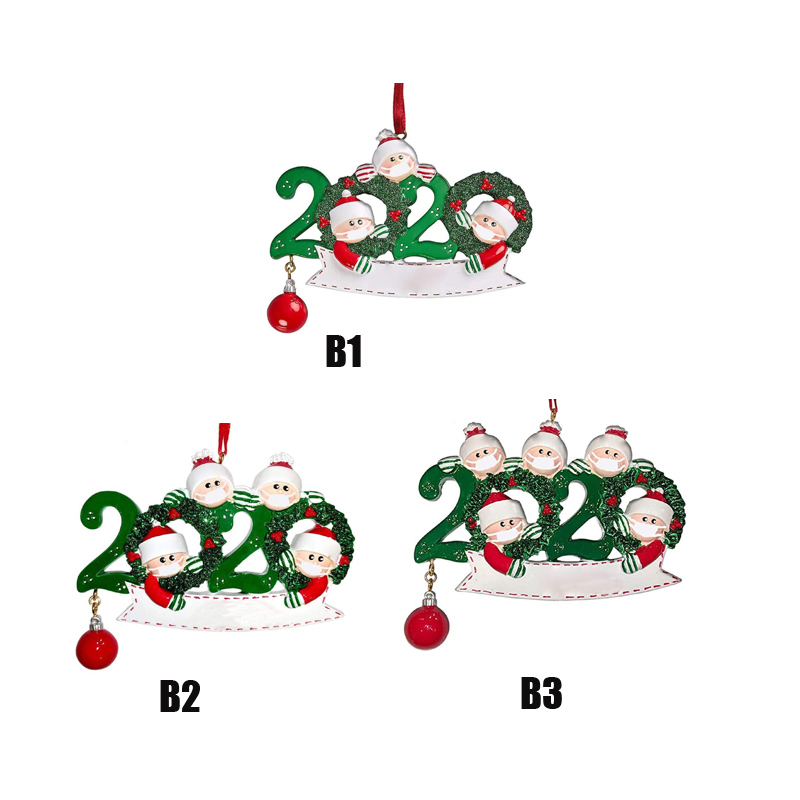 Christmas Ornament DIY Greetings 2020 Survivor Family Quarantine Xmas Birthday Party Pandemic Social Distancing New Year Tree Pendant Toys