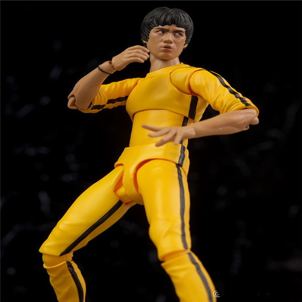 SHFiguarts King of Kung Fu Bruce Lee Variant With Nunchaku Action Figure Collectible Model Toy 15cm (13)